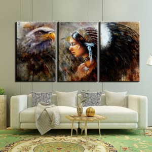 Tableau Amérindienne esprit aigle