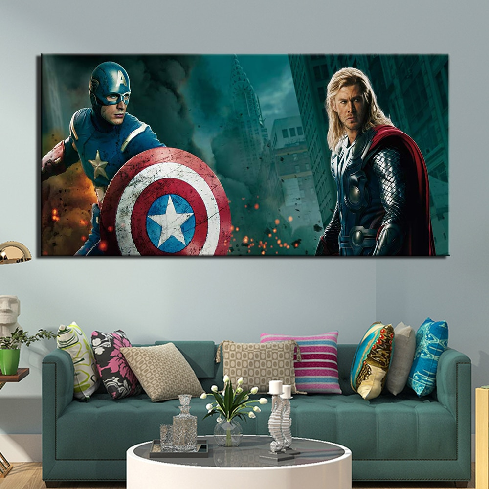 Tableau Captain America et Thor