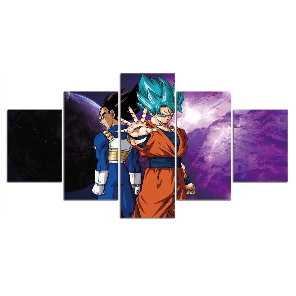 Tableau Son Goku vs Vegeta