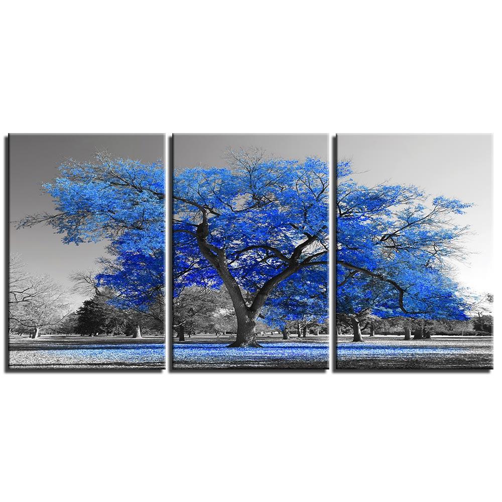 Tableau arbre bleu