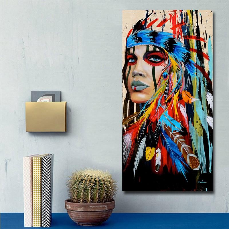 Tableau femme Amérindienne