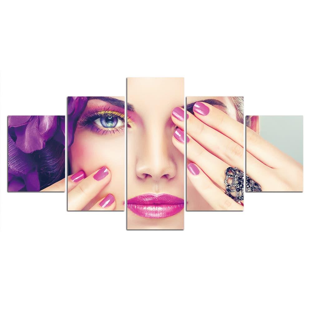 Tableau femme violette