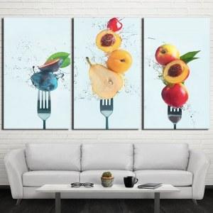Tableau fourchettes de fruits