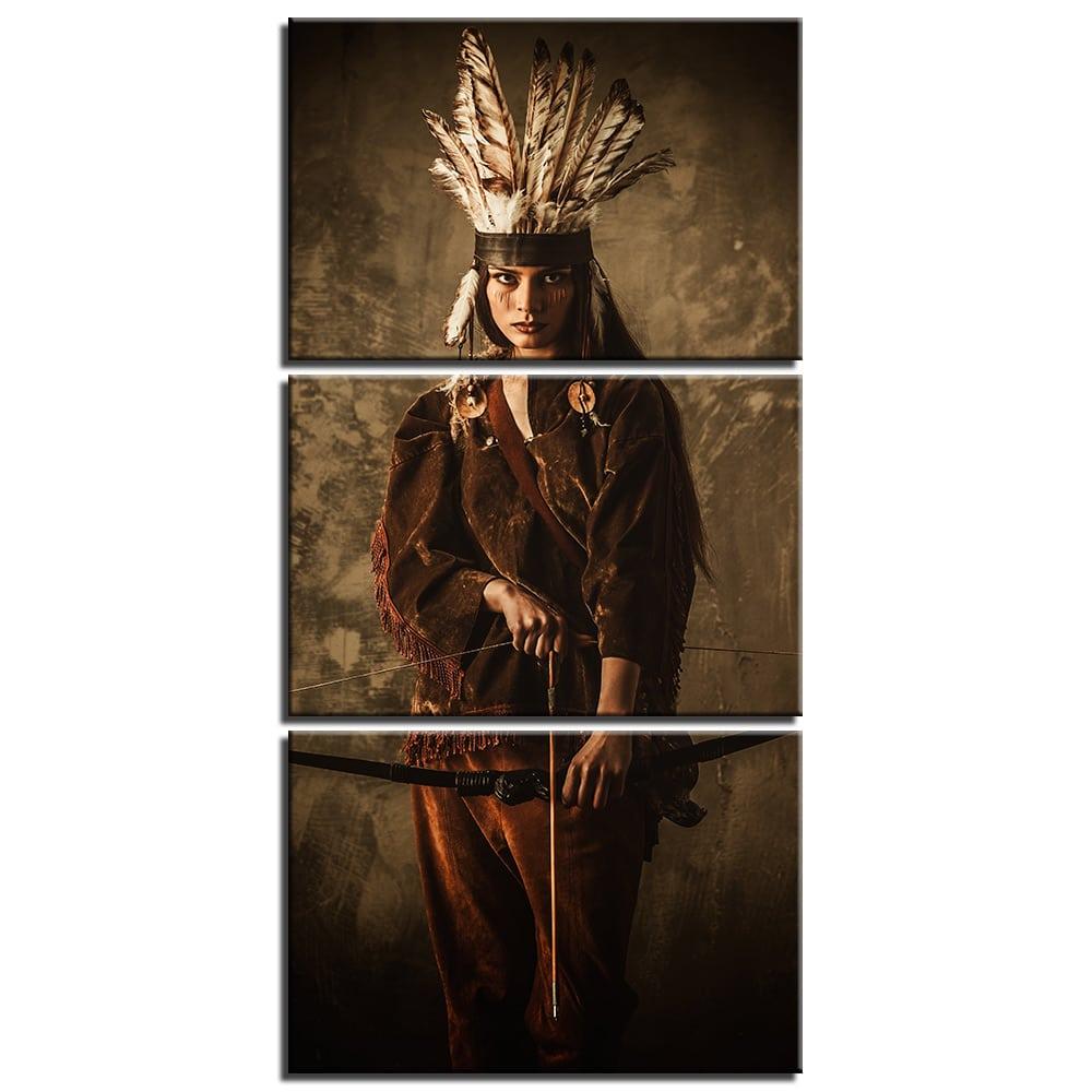 Tableau guerrière autochtone
