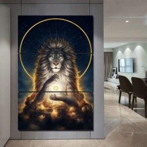 Tableau lion aux cieux