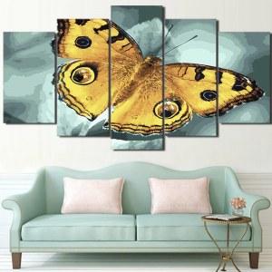Tableau papillon jaune