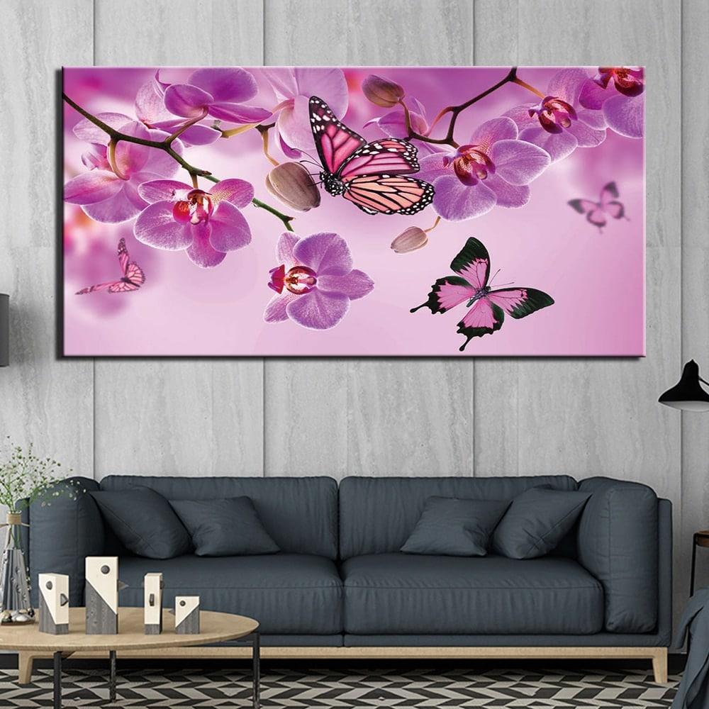 Tableau papillons roses 1 partie
