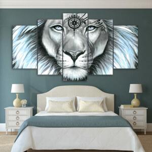 Tableau tête de lion spirituelle