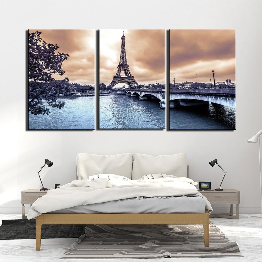 Tableau tour Eiffel du pont d'Iena
