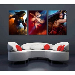 Tableau triptyque Wonderwoman