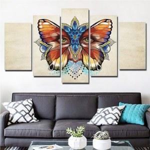Tableau visage papillon