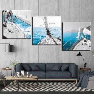 Tableau voilier en mer