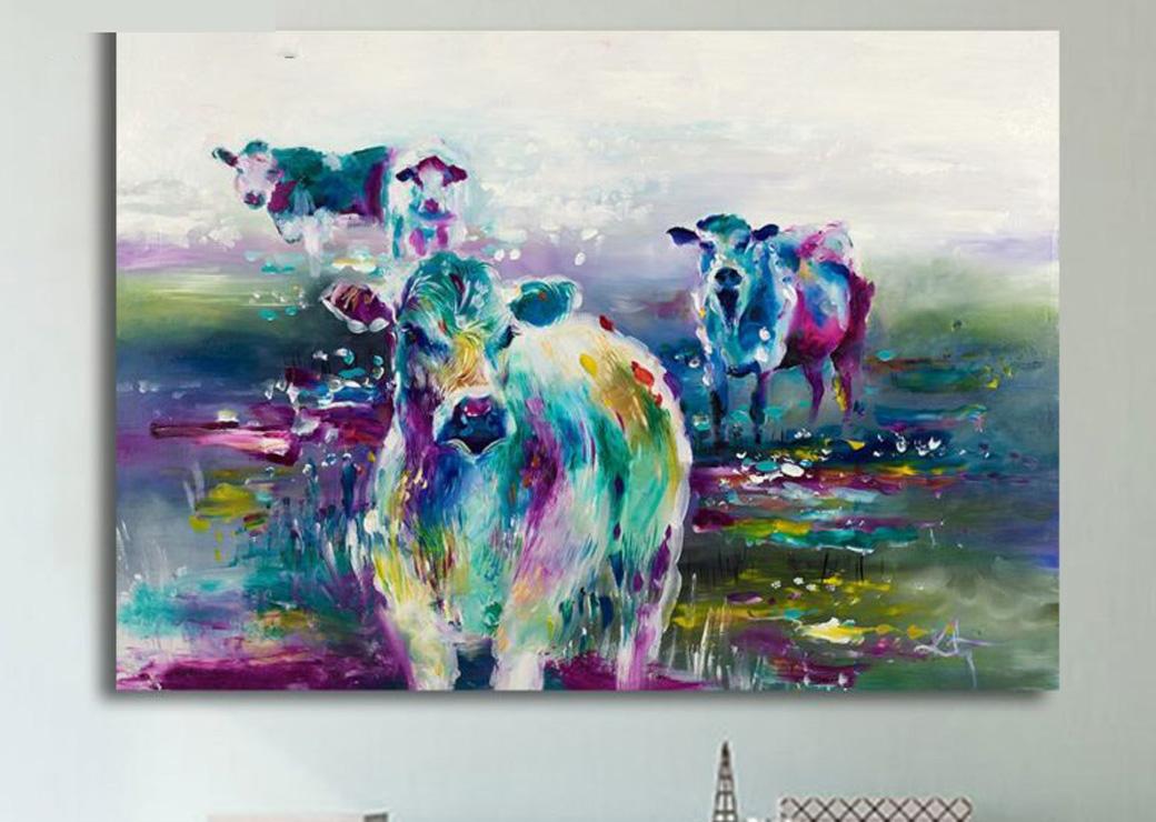 Tableau-4-vaches-multicolores2