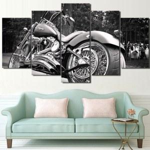 Tableau Harley Davidson noir et blanc