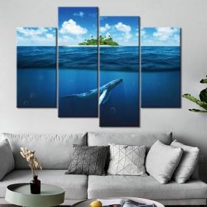 Tableau baleine sous la mer