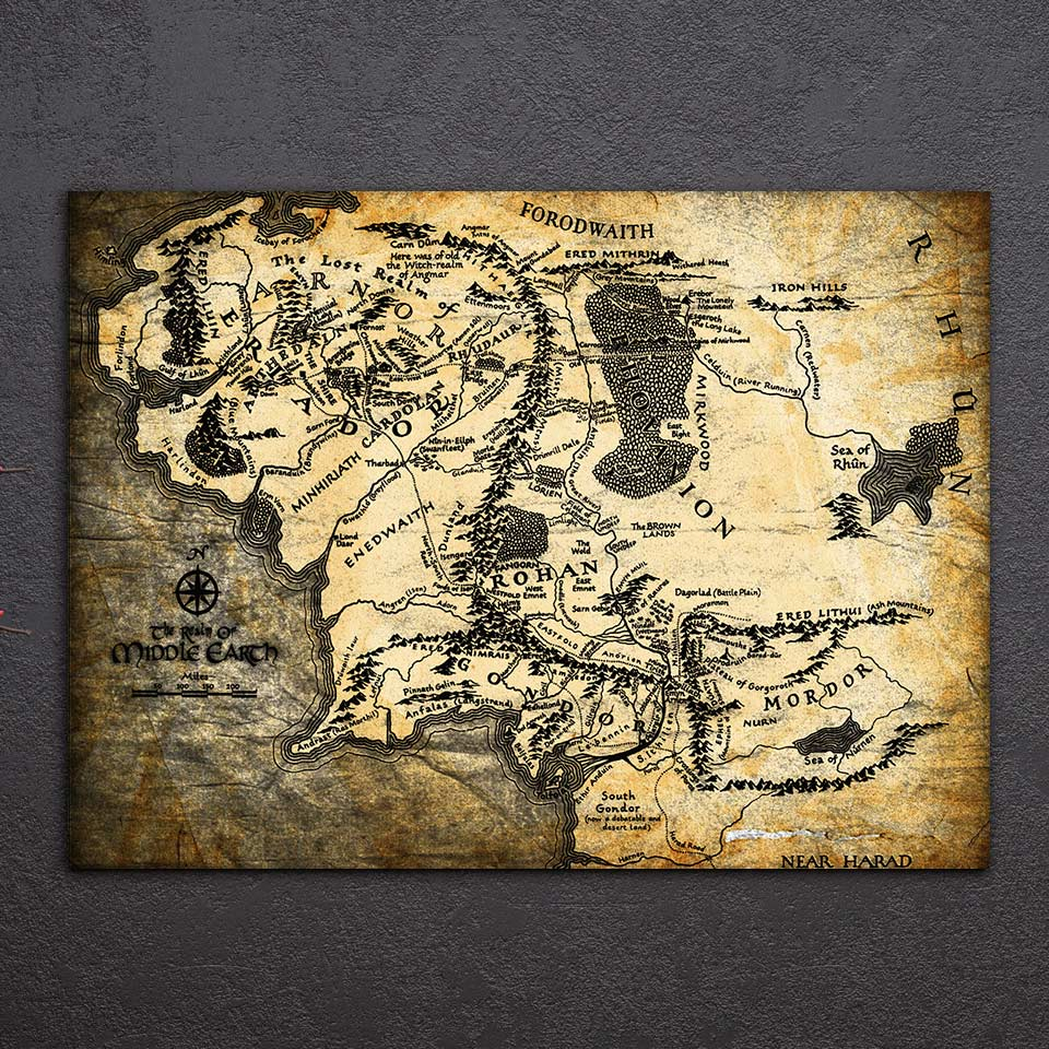 Tableau carte ancienne