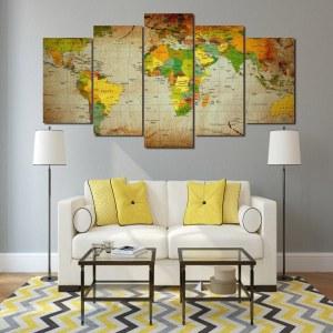 Tableau carte du monde et pays