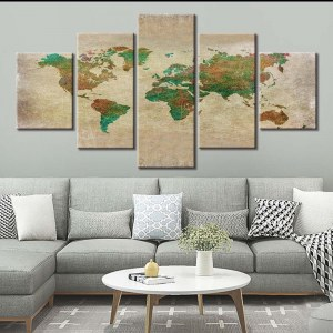 Tableau carte du monde nature