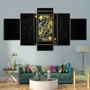 Tableau carte roi noir or