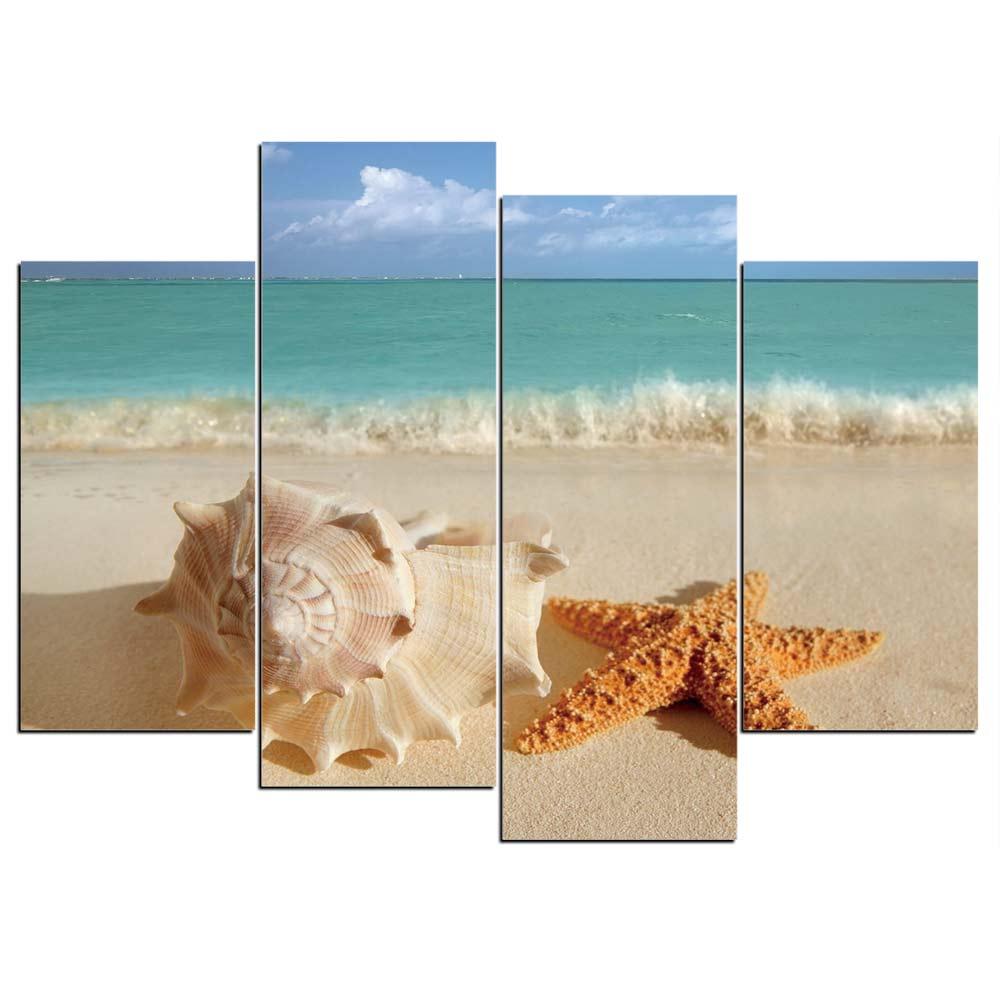 Tableau coquillage et étoile de mer
