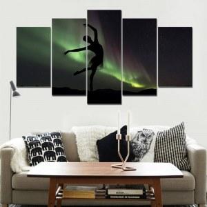 Tableau danse et aurore boréale