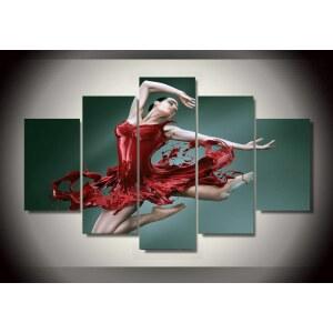 Tableau danseuse rouge