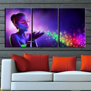 Tableau femme fluorescente