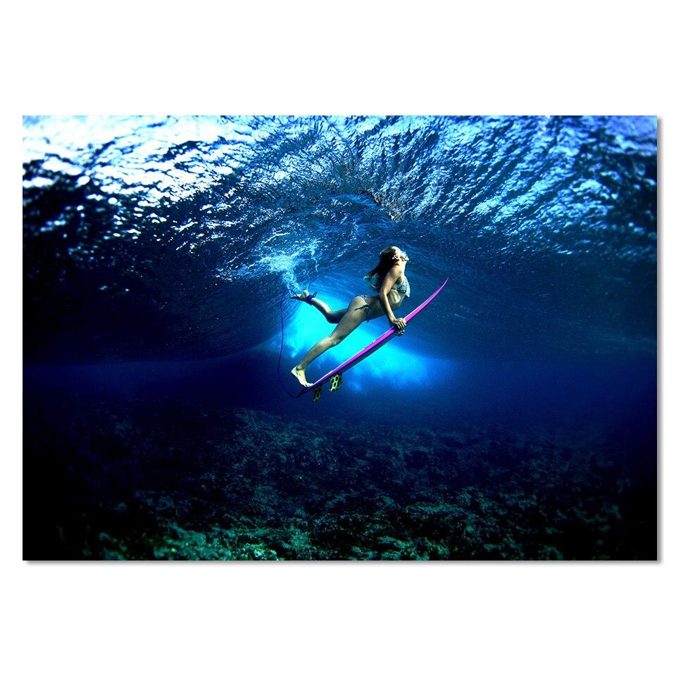 Tableau femme surf