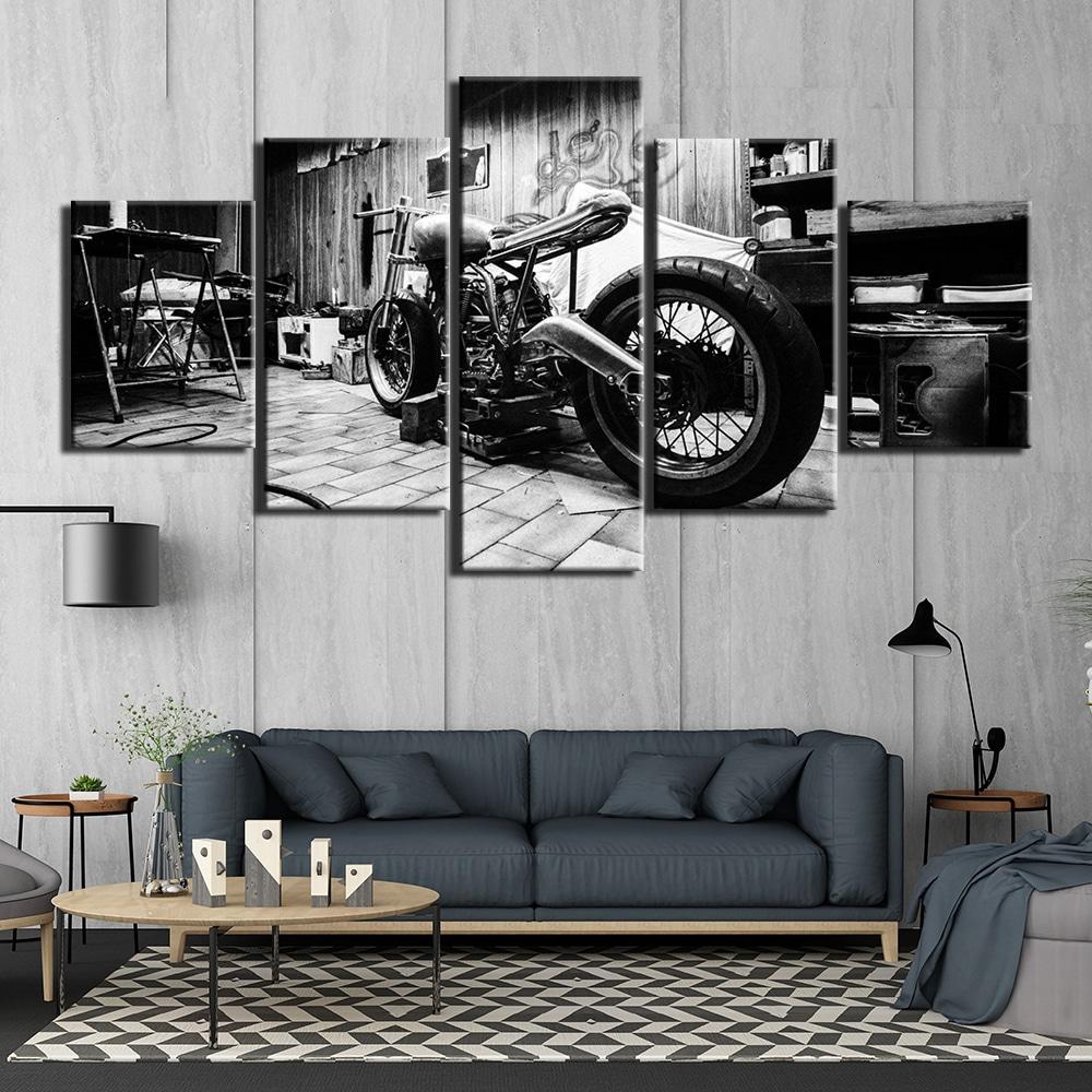Tableau moto vintage