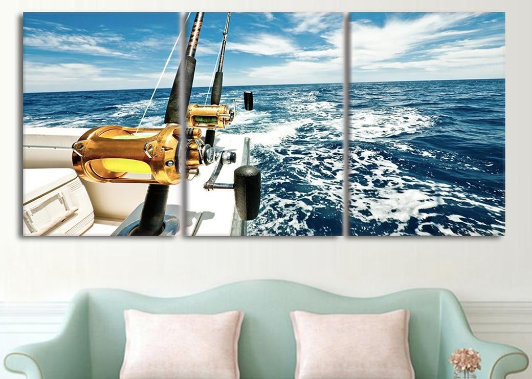 Tableau pêche en bateau