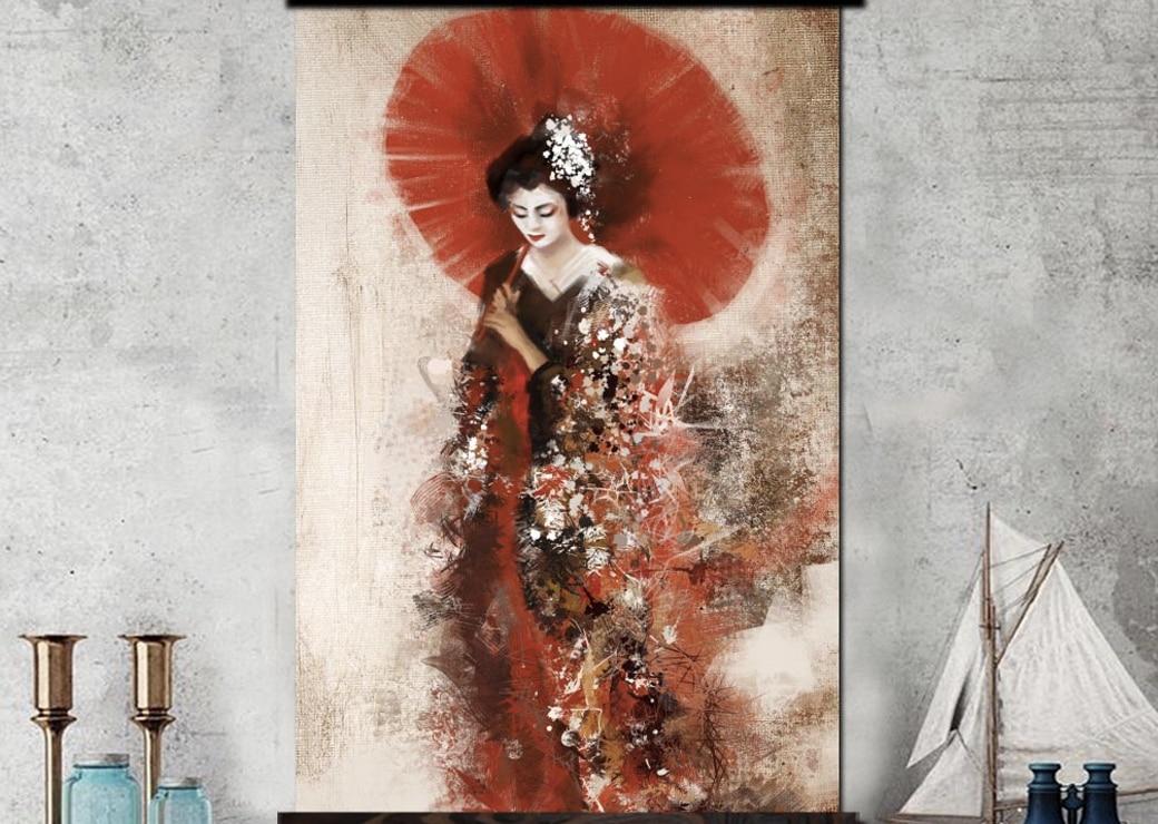 Tableau traditionnel Geisha