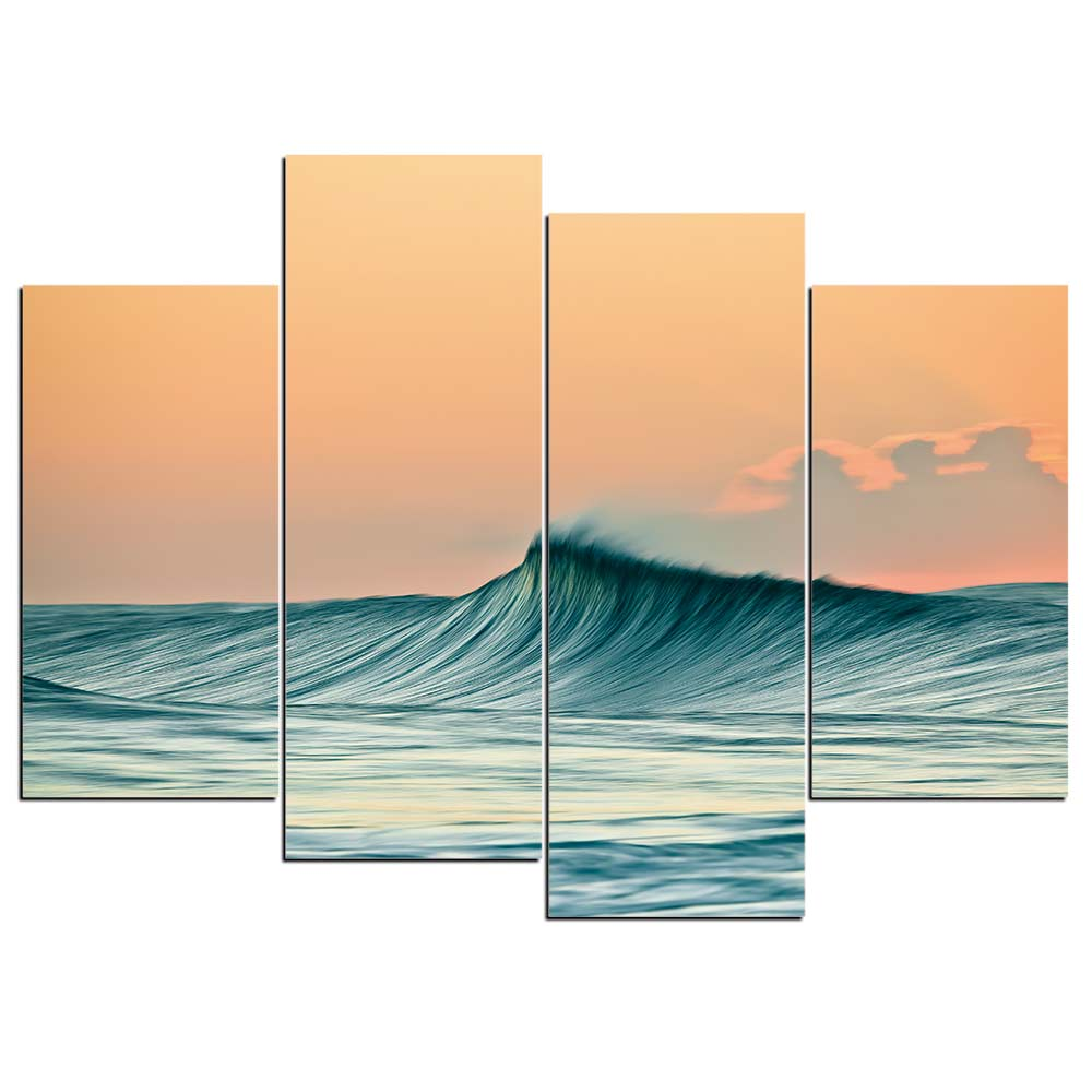Tableau vague de surfer