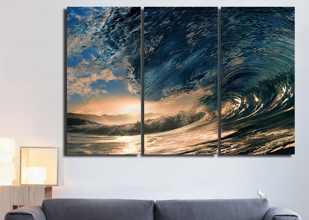 Tableau vague gigantesque