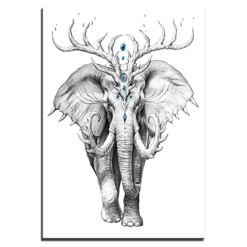 Tableau éléphant mystique