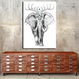 Tableau éléphant mystique Tableau Animaux Tableau Éléphant