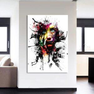 Tableau portrait abstrait femme Tableau Abstrait