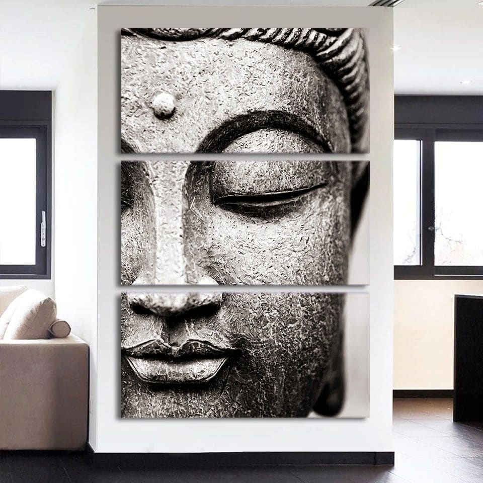 Tableau Bouddha gris Tableau Bouddha Tableau Zen