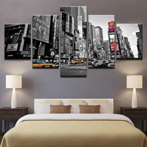 Tableau Time Square noir et blanc