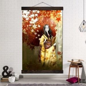 Tableau Geisha à l'automne Tableau Japonais Tableau Monde