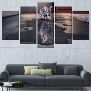 Tableau chaton tigre