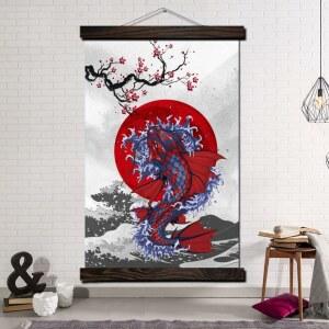 Tableau grande carpe koï Tableau Japonais Tableau Monde