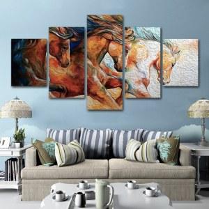 Tableau peinture de 3 chevaux
