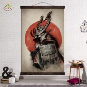 Tableau samouraï au soleil levant Tableau Japonais Tableau Monde