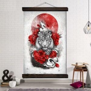 Tableau tigre du soleil levant