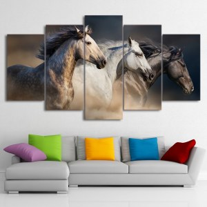Tableau trois chevaux