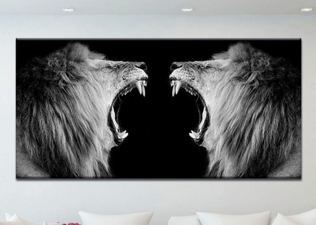 tableau-lion