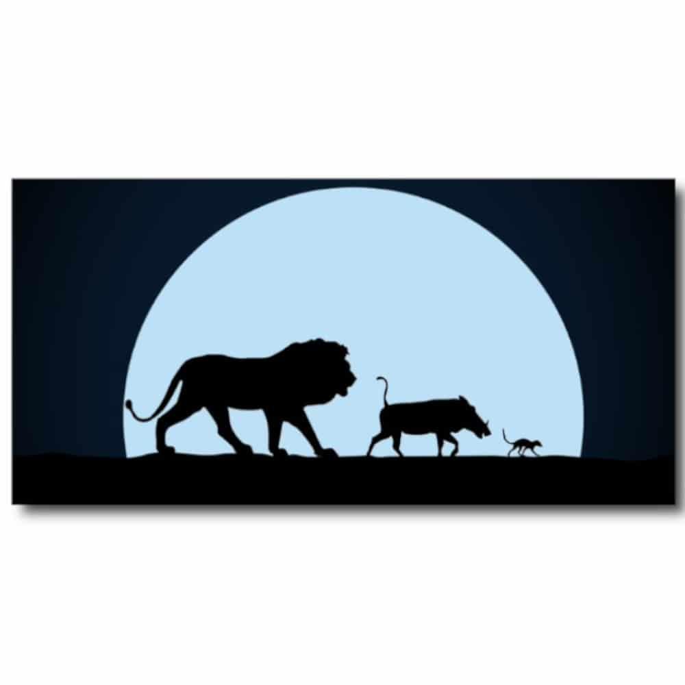 Tableau Lion king, Timon et Pumbaa