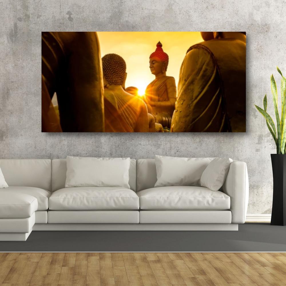 Tableau Bouddha devant le soleil Uncategorized