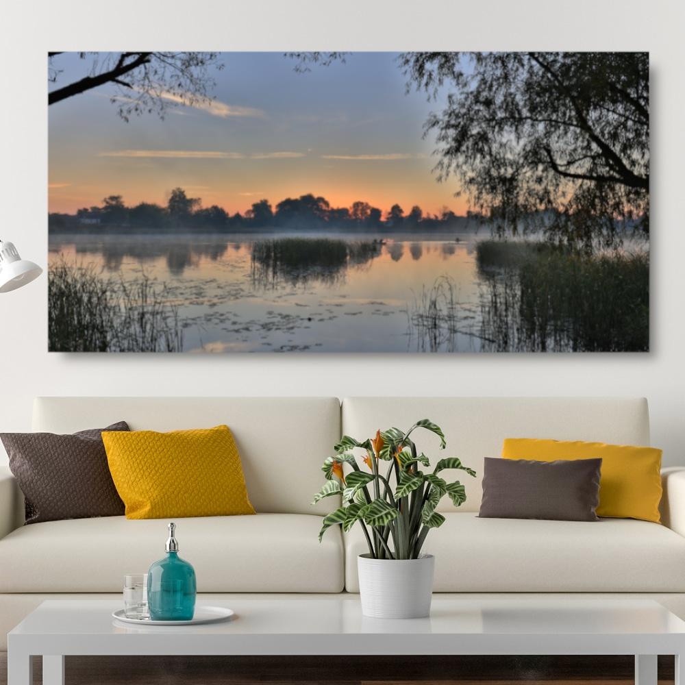 Tableau Lever du soleil dans la mangrove