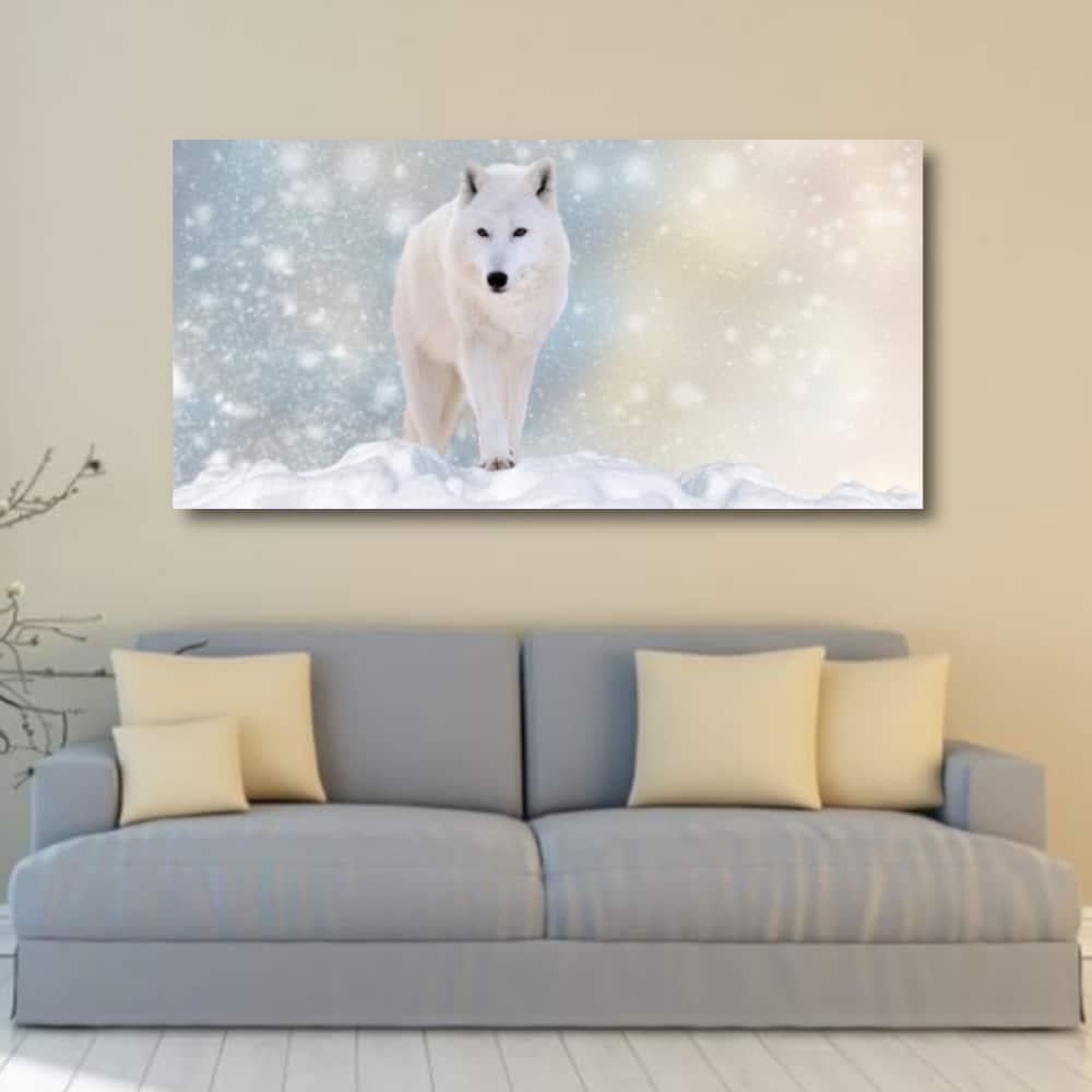 Tableau Loup dans la neige Uncategorized